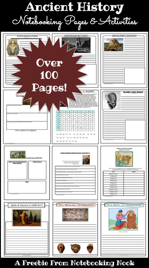 Photo of FREE Ancient History Notebooking Pages & Activities