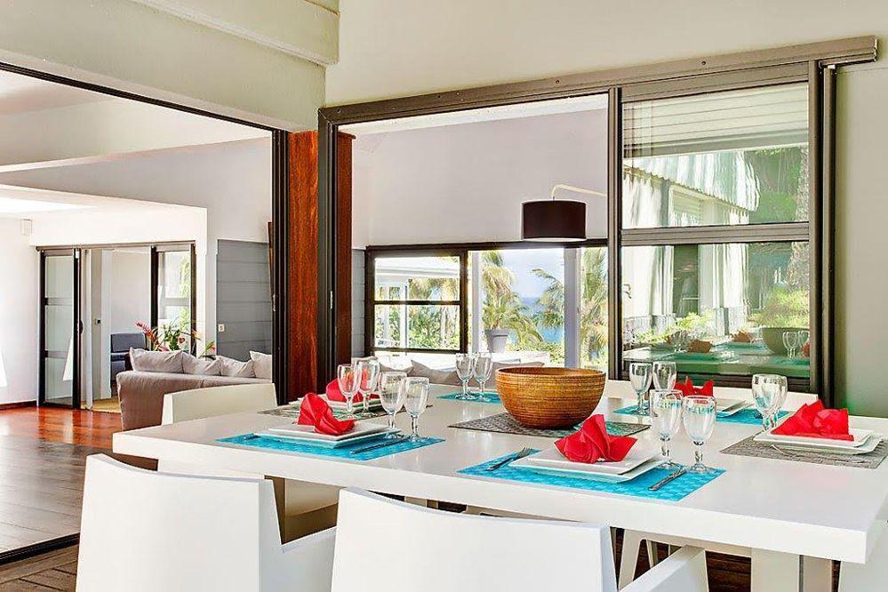 Villa de luxe piscine vue mer Guadeloupe - La Salle à manger Villa