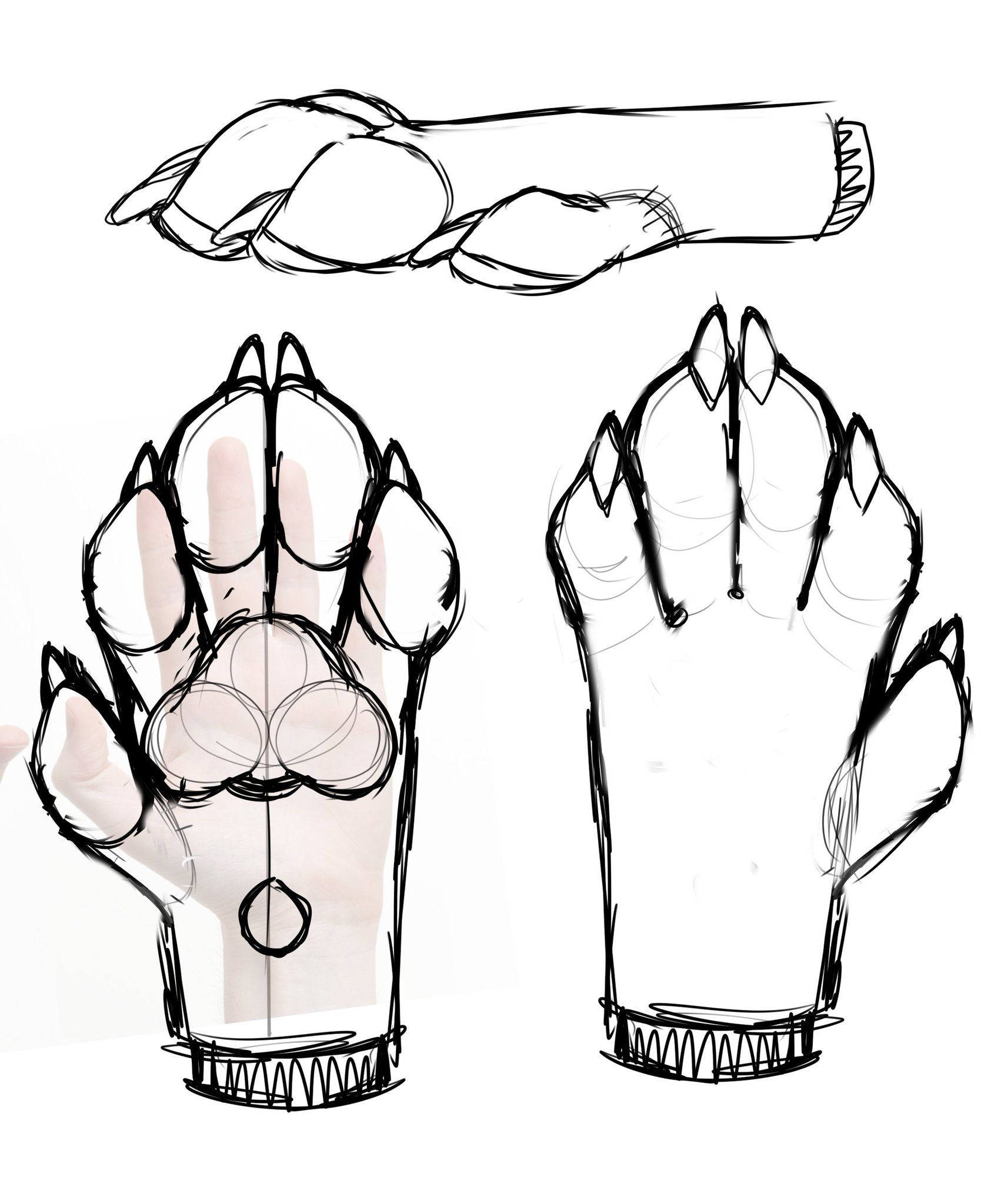 Pooka On Twitter Fursuit Paws Paw Drawing Furry Drawing