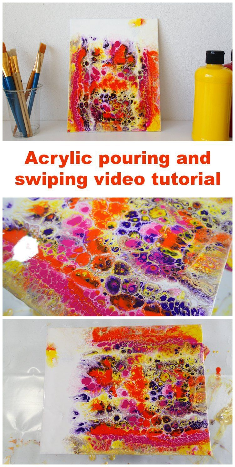 Pittura Acrilica Video Deby Coles Very First Swipe Pinterest Tecniche Di Pittura