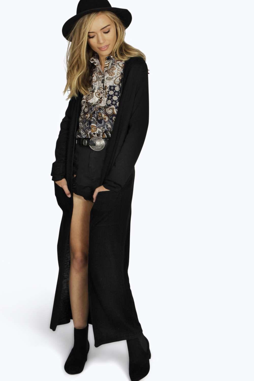 Hooded Maxi Cardigan - black | FashionToDieFor | Pinterest | Maxi ...