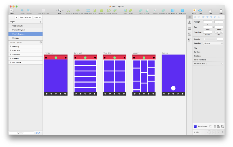 Blockframing And 31 Free Sketch Ready Layouts Using Auto Layout By Anima App App Layout Free
