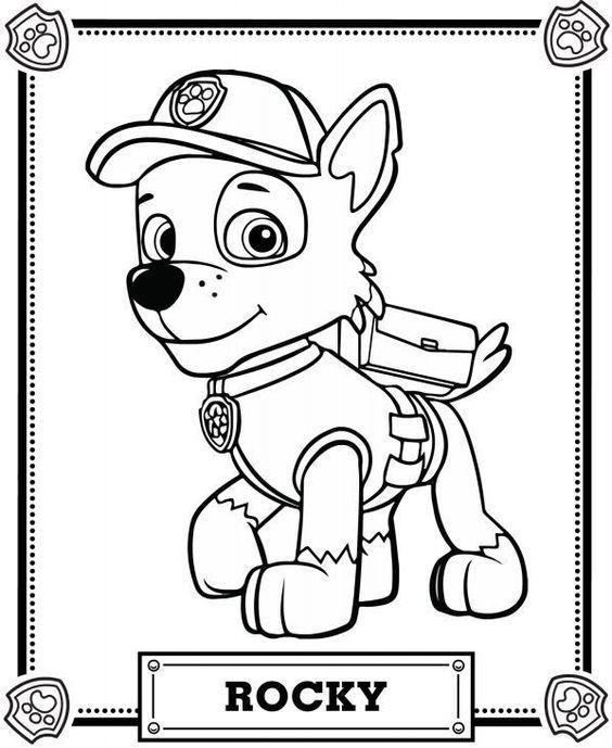 Coloriage De La Pat Patrouille : coloriage, patrouille, Patrol, Coloring, Pages, Pages,, Coloring,, Rocky