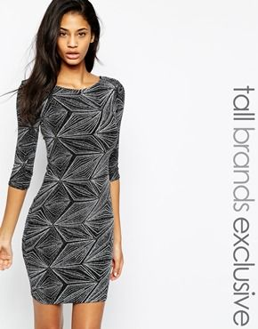fc14140099 New Look Tall Diamond Sparkle Bodycon Dress