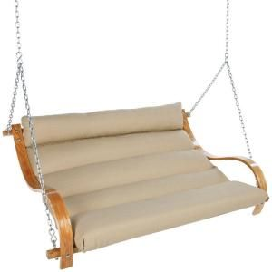Double Cushion Swing With Oak Arms Opal Copx At The Home Depot Mobile
