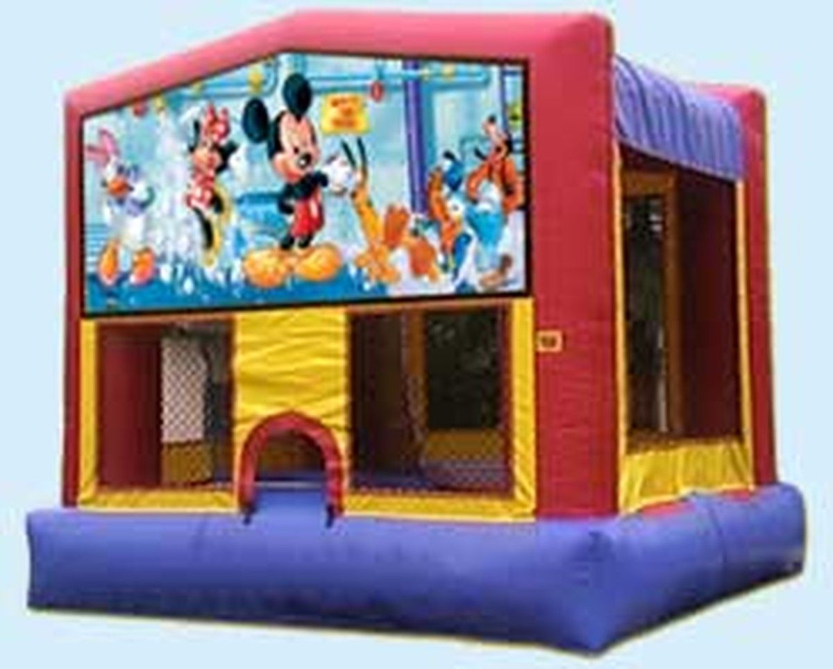 Mickey mouse bounce house Bounce house rentals, Bounce