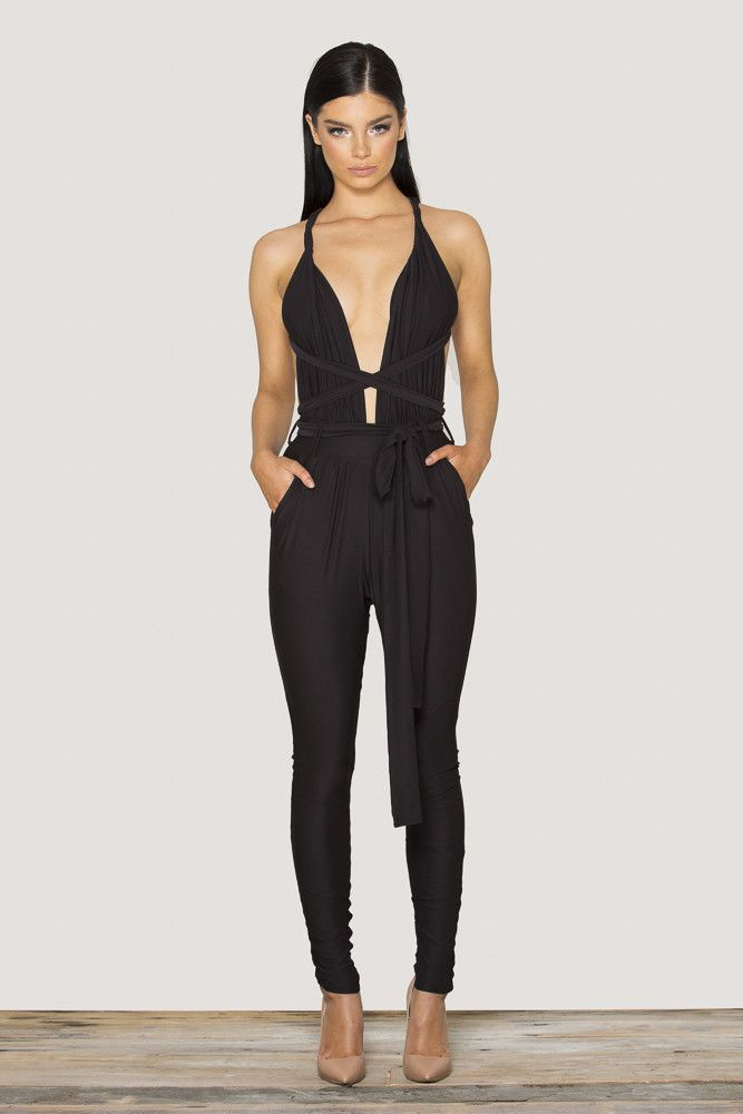 release info on official store new styles Navali Jumpsuit - Black | Meshki Boutique | Jumpsuits for women ...