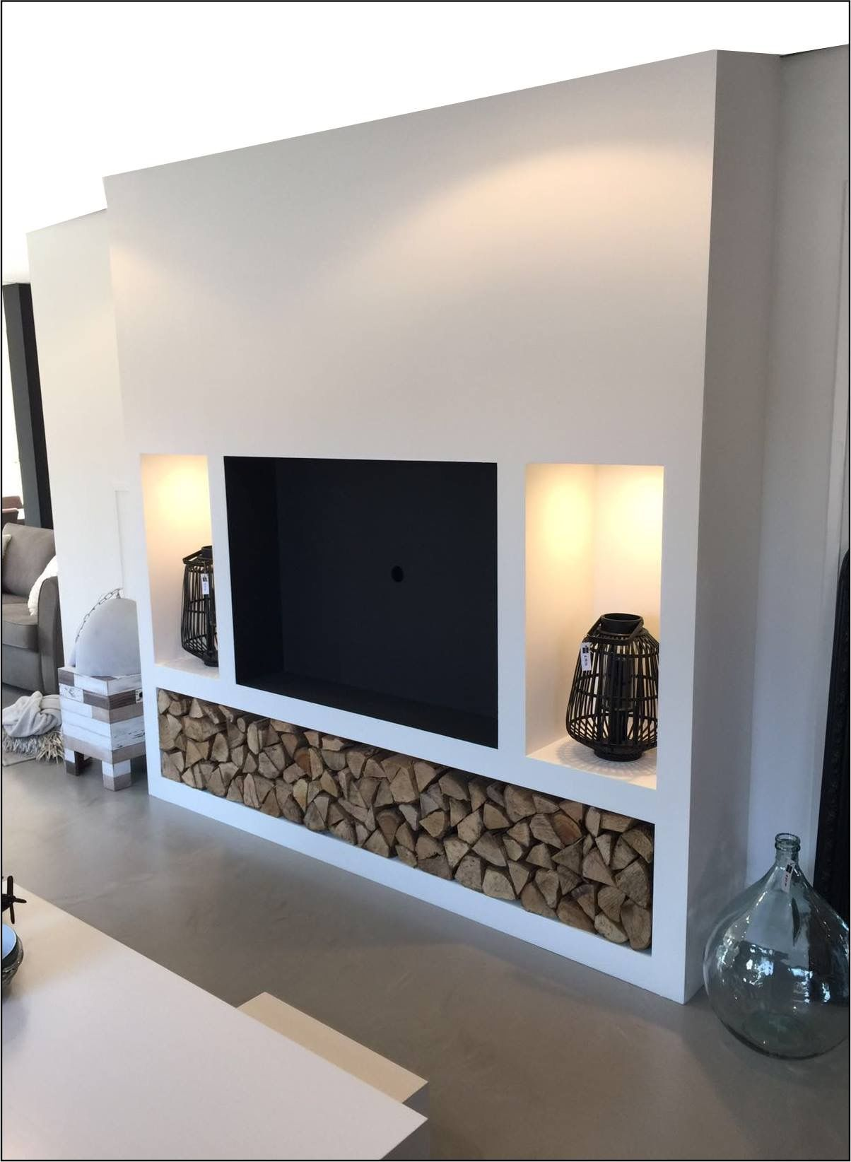 Tv Wand Huis Idees In 2019 Tv Wall Decor Living Room Room