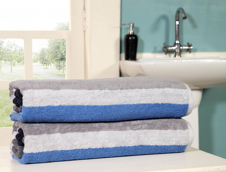 Homeway Decor Oversized Jacquard Woven Beach Towel 40 70 2 Piece