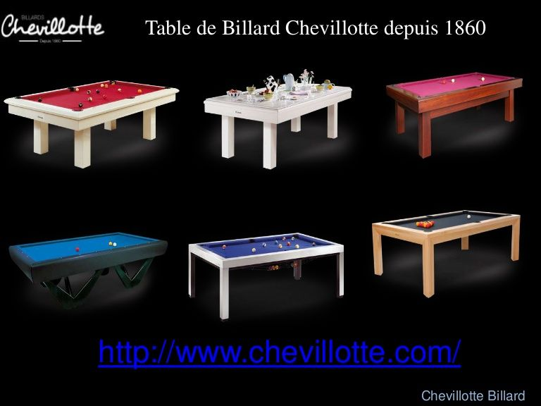 tables de billard de luxe moderne vendre chevillotte with faire son billard soi meme. Black Bedroom Furniture Sets. Home Design Ideas
