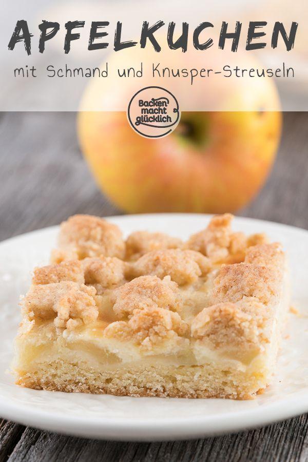 Apfel Schmand Kuchen Mit Streuseln Rezept Kuchen Kuchen Und Food