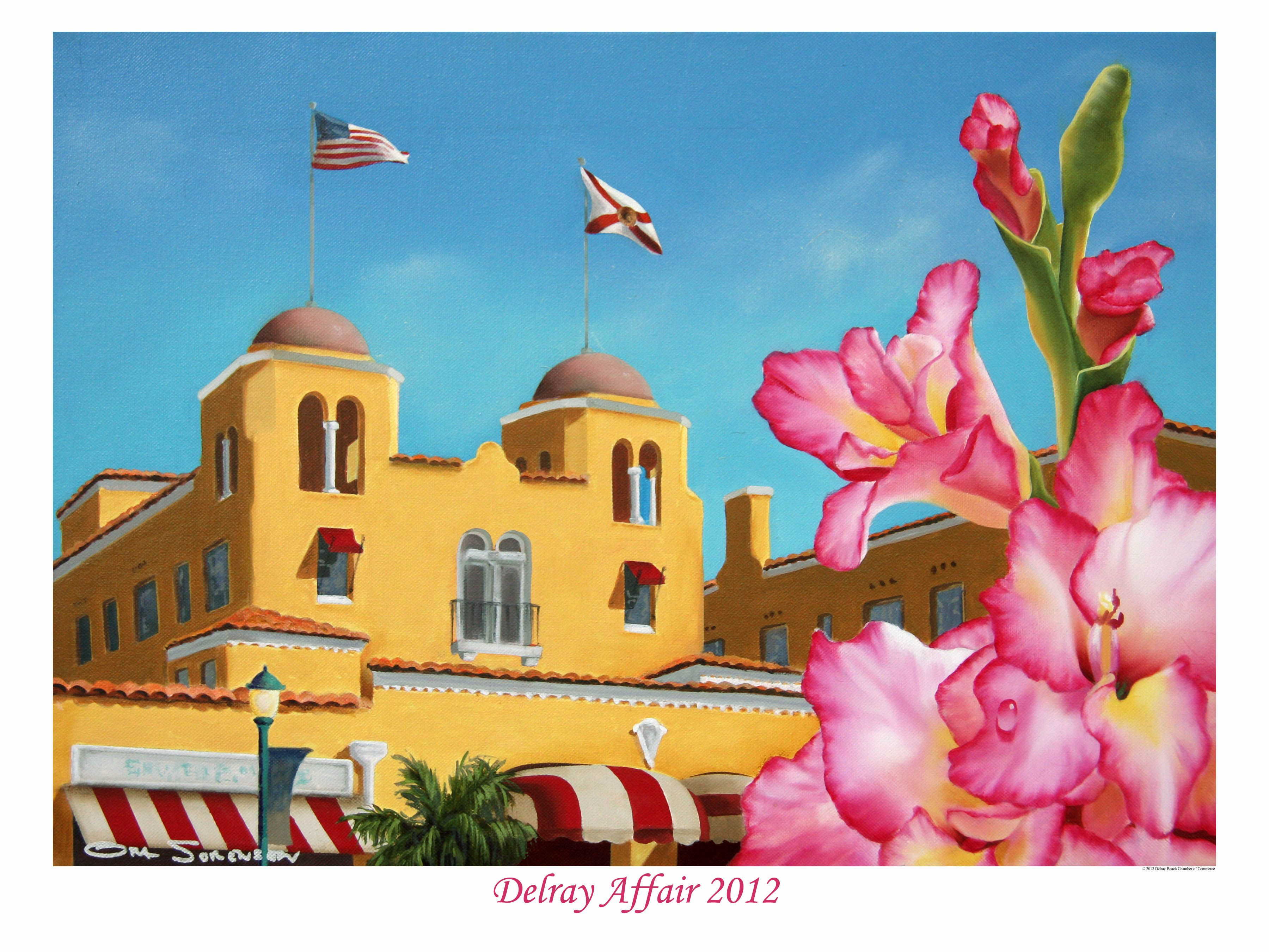 2012 delray affair poster past posters all events - Palm beach gardens tennis center ...