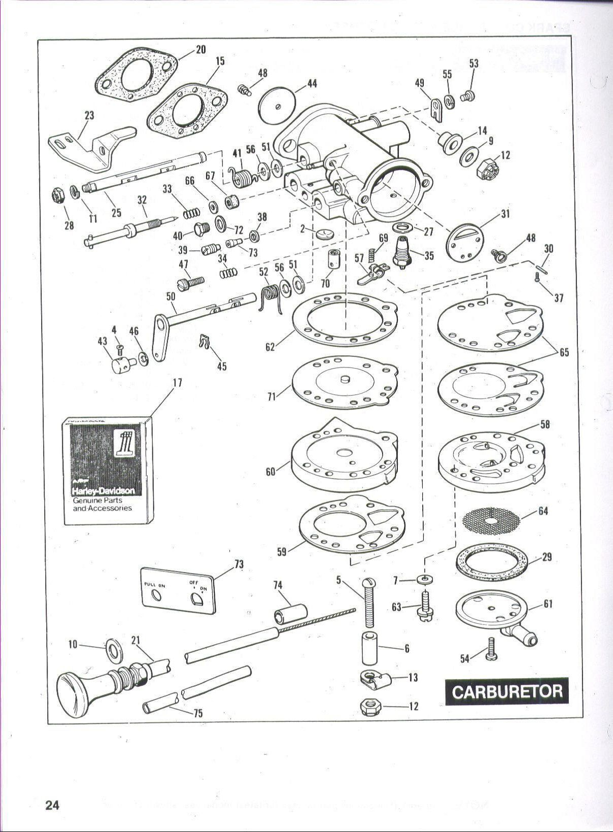 harley davidson golf cart carburetor diagram [ 1208 x 1639 Pixel ]