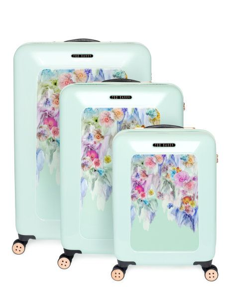 201c9634165e5 Small sugar sweet floral suitcase - Pale Green