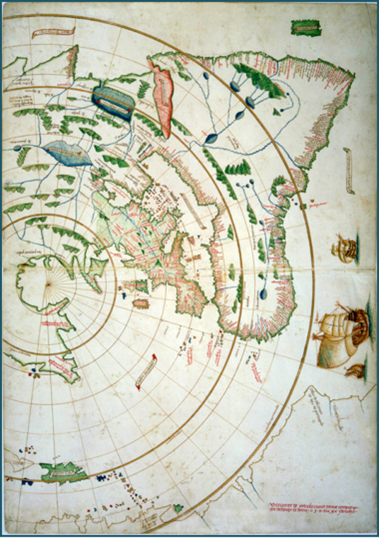 Maggiolo world map north pole date 1511 alternative earth maggiolo world map north pole date 1511 gumiabroncs Image collections