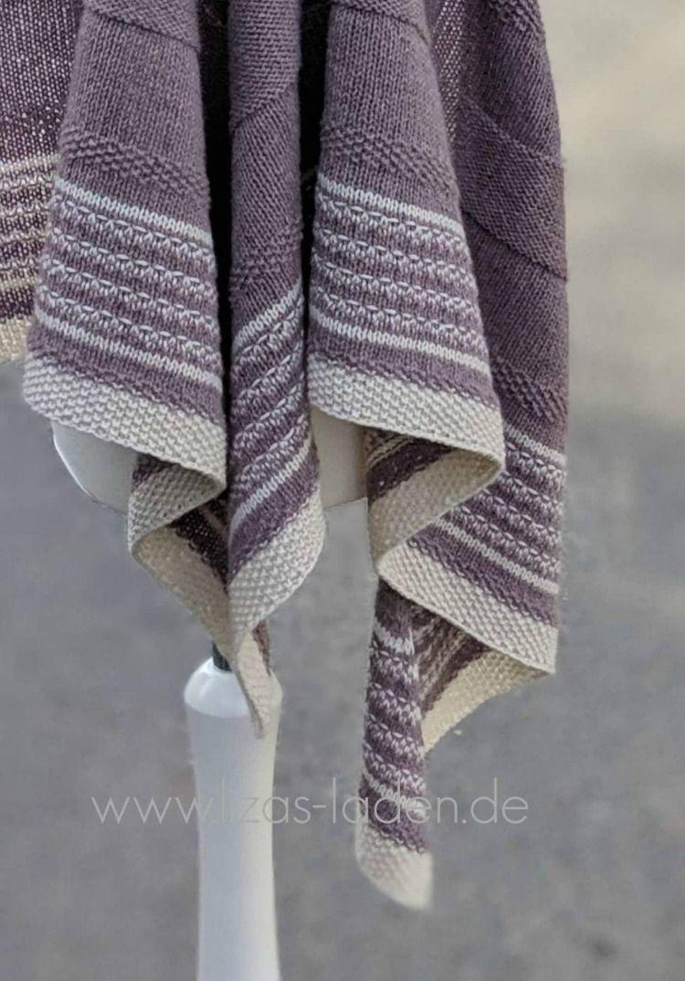 Abschlusskante Von Lizas Tuch Lavendelfeld Aus Recycelten