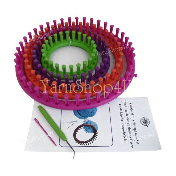 Sale Knitting Loom Set Loops Threads Knit Quick Loom 6 Piece