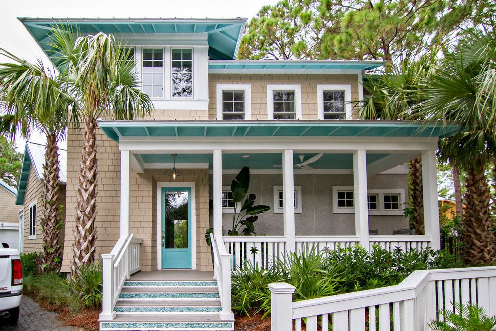 Pacesetter Homes For A Tropical Exterior With A Covered Porch And