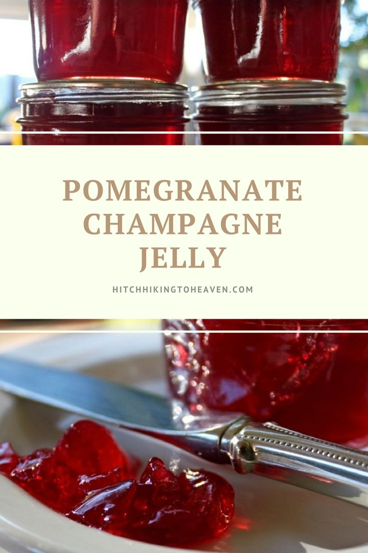 Pomegranate Champagne Jelly Hitchhiking To Heaven Champagne Jelly Wine Jelly Jelly Recipes