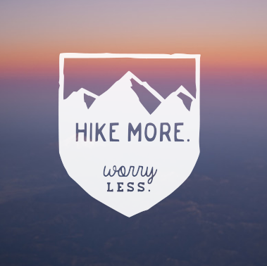 Hike More Worry Less, Outdoor Vinyl Decal, Outdoorsy gift, outdoorsy water bottle sticker