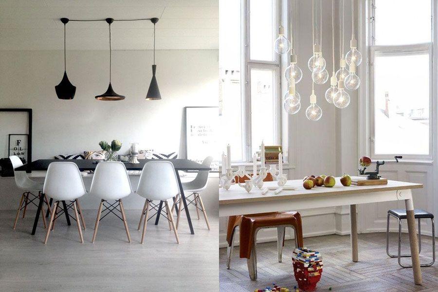 Diferentes soluciones para lámparas de techo de comedor. | Cocinas ...