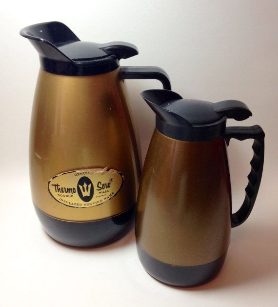 1960's coffee carafe  thermo serve west bend by tompkinsoriginal