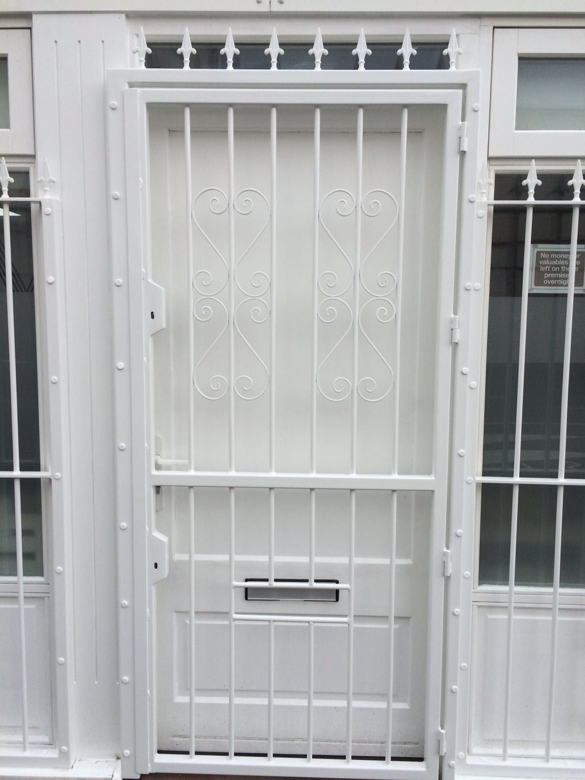 RSG3000 security door gate fitted to commercial