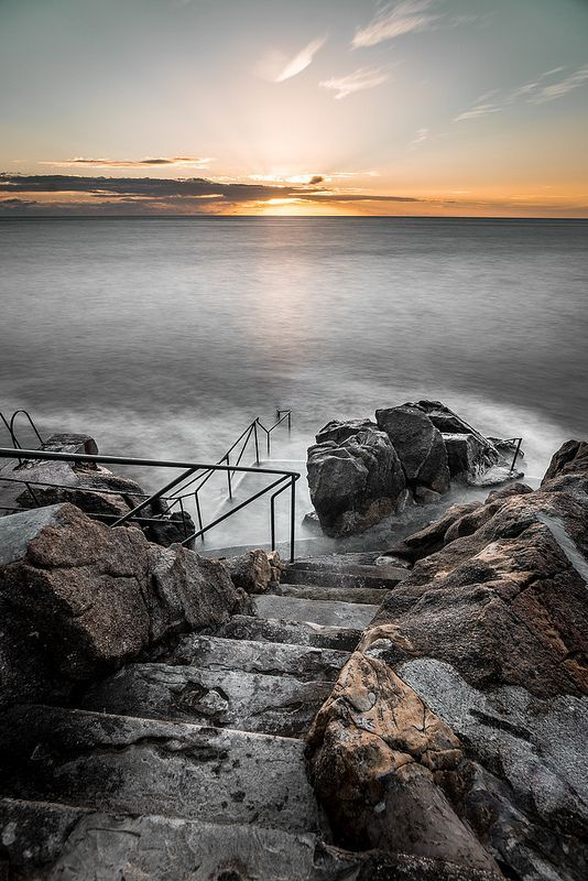 sunrise in hawk cliff killiney co dublin ireland dublin city