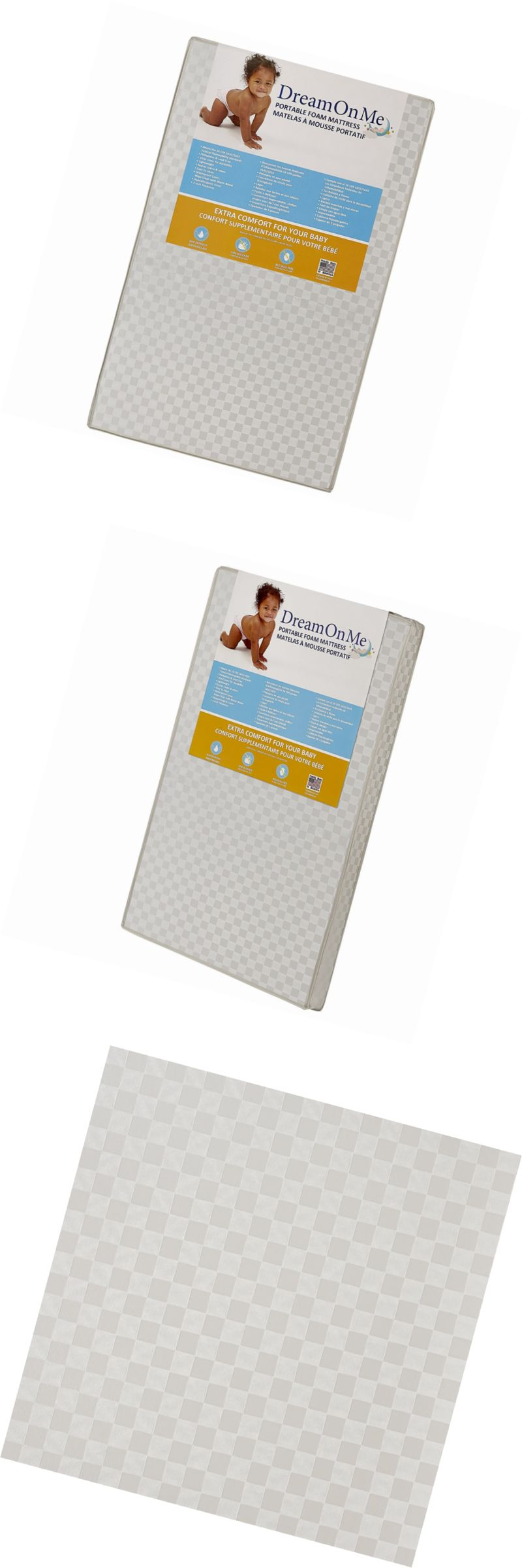crib mattresses 117035 dream on me 3 portable crib mattress white