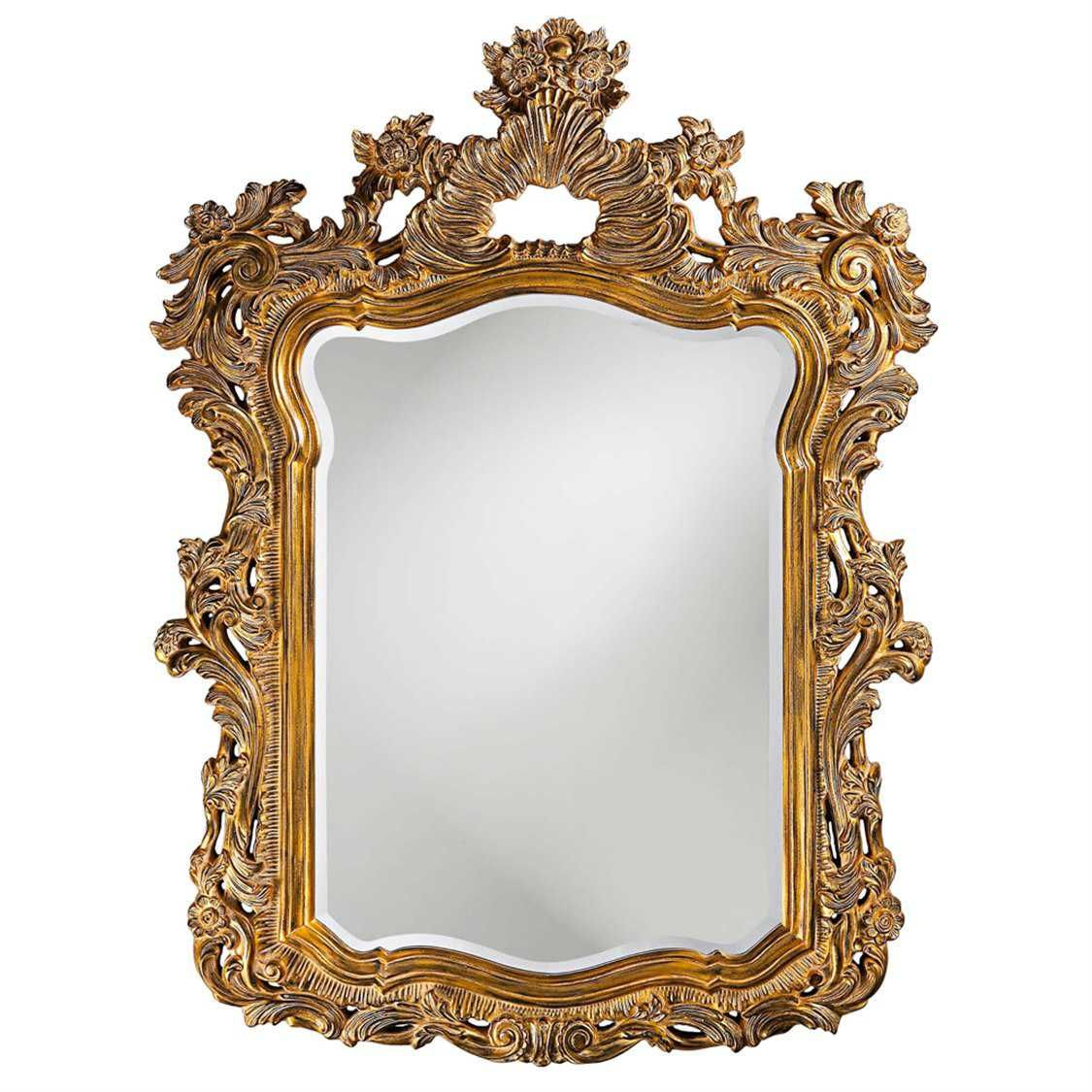 Howard Elliott Turner 42 X 56 Antique Gold Wall Mirror Ornate Mirror Framed Mirror Wall Gold Mirror Wall