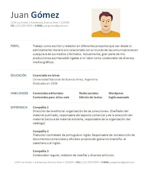 ejemplo de curriculum vitae sample resume ideas stenciling tips
