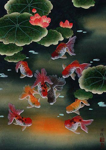 Koi Fish Feng Shui Painting