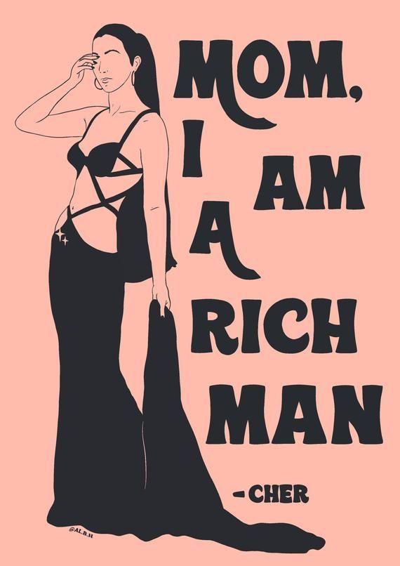 Cher A4 Art Print / Feminist Quote Empowered Wall-Decor Poster / Girl Power Music Illustration   Art collage wall, Feminist quotes, Music illustration