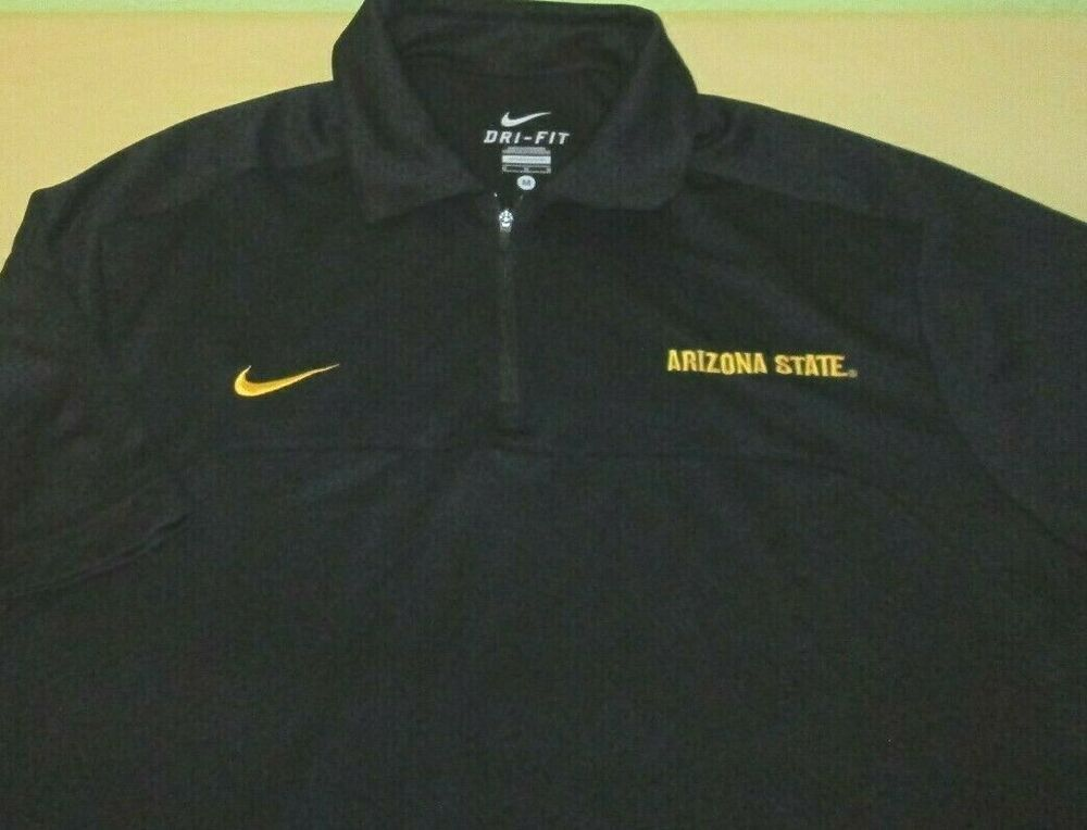 12fccda5 Arizona State st Sun Devils NCAA Coaches Polo Shirt M medium black ...