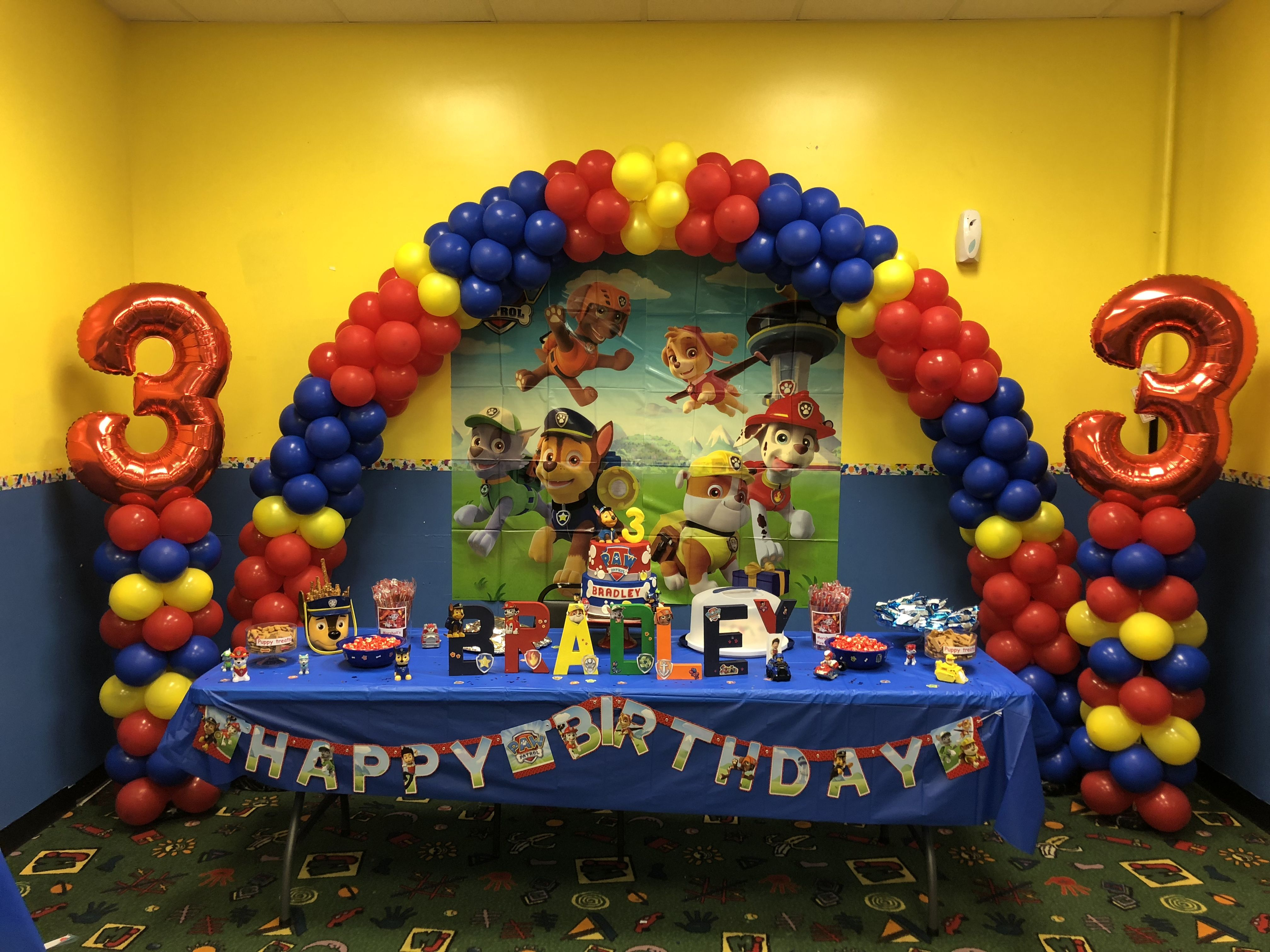 First Year Parties Kids Paw Patrol Party Decor Ideas Birthday Balloons