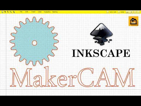 Tutorial: Gerando imagem com Inkscape Makercam  | Programas Cnc