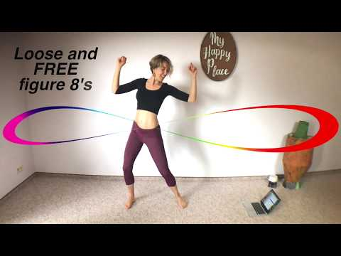 14min hip figure 8 workout  fun standing ab exercises