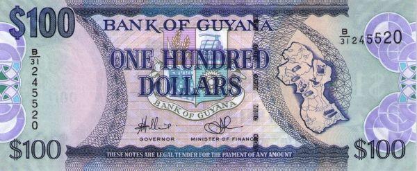 Mata Guyana 100 Dollars Nama Guyanese Dollar Kod Iso 4217 Gyd Simbol G Atau Gy Bank Pusat Of