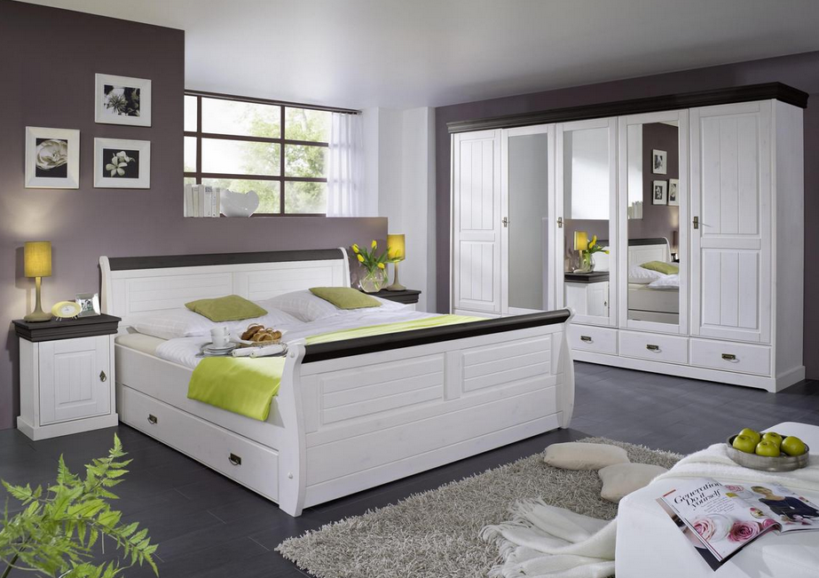 Schlafzimmer Hardeck ~ Porta schlafzimmer ein bett aus holz groß 1 schlafzimmer pinterest