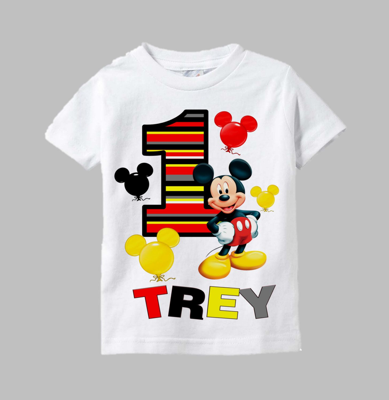 Mickey Mouse Inspired One Shirt For 1st Birthdays Boy Birthday