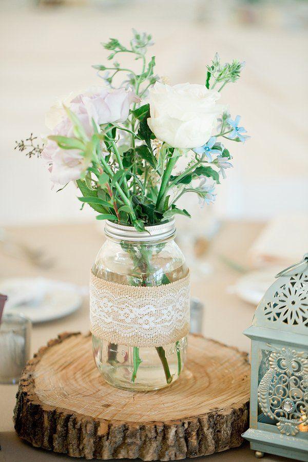 Rustic Wedding Centerpieces.Rustic Inspired Outdoor Wedding Rustic Wedding