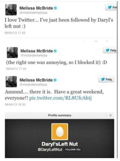 Melissa's tweet