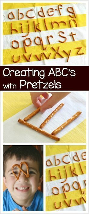 How To Make A Letter Mesmerizing Making Letters Of The Alphabet Using Pretzels  Preschool Is Pretty .