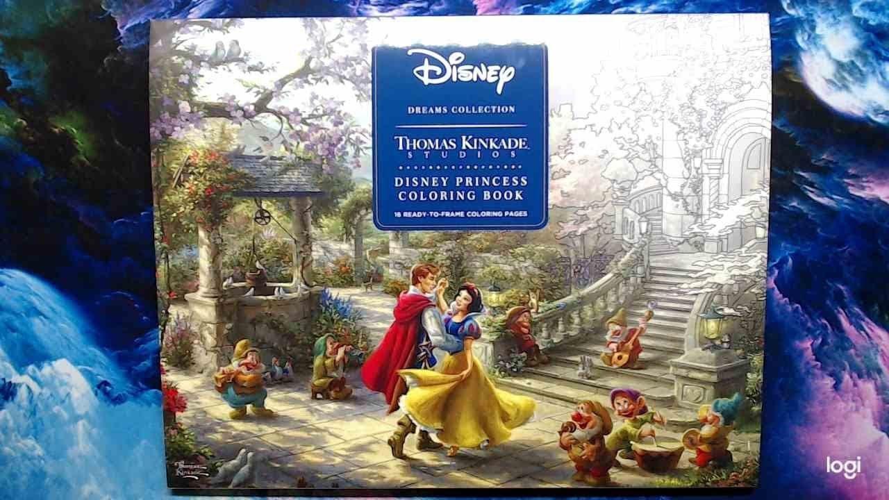 Thomas Kinkade Disney Princess Coloring Book Flip Through Disney Princess Colors Thomas Kinkade Princess Coloring