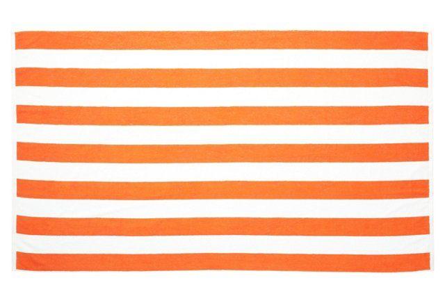 Cabana Stripe Beach Towel Orange White Striped Beach Towel