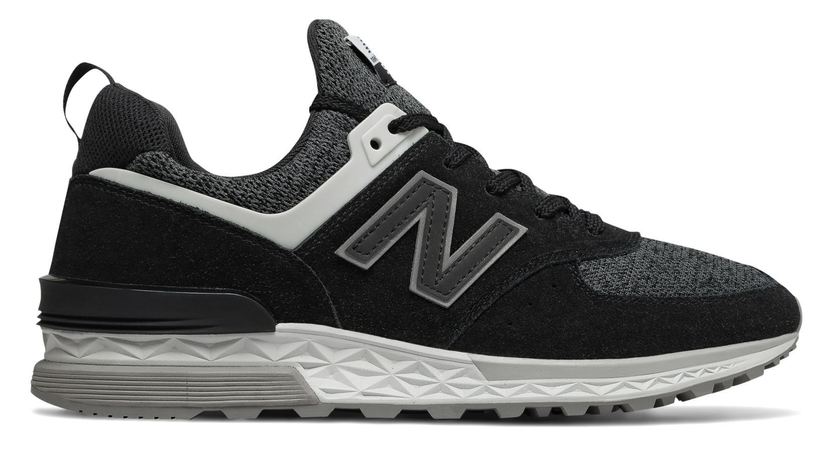 New Balance 574 Sport Black With White 7.5 Casual