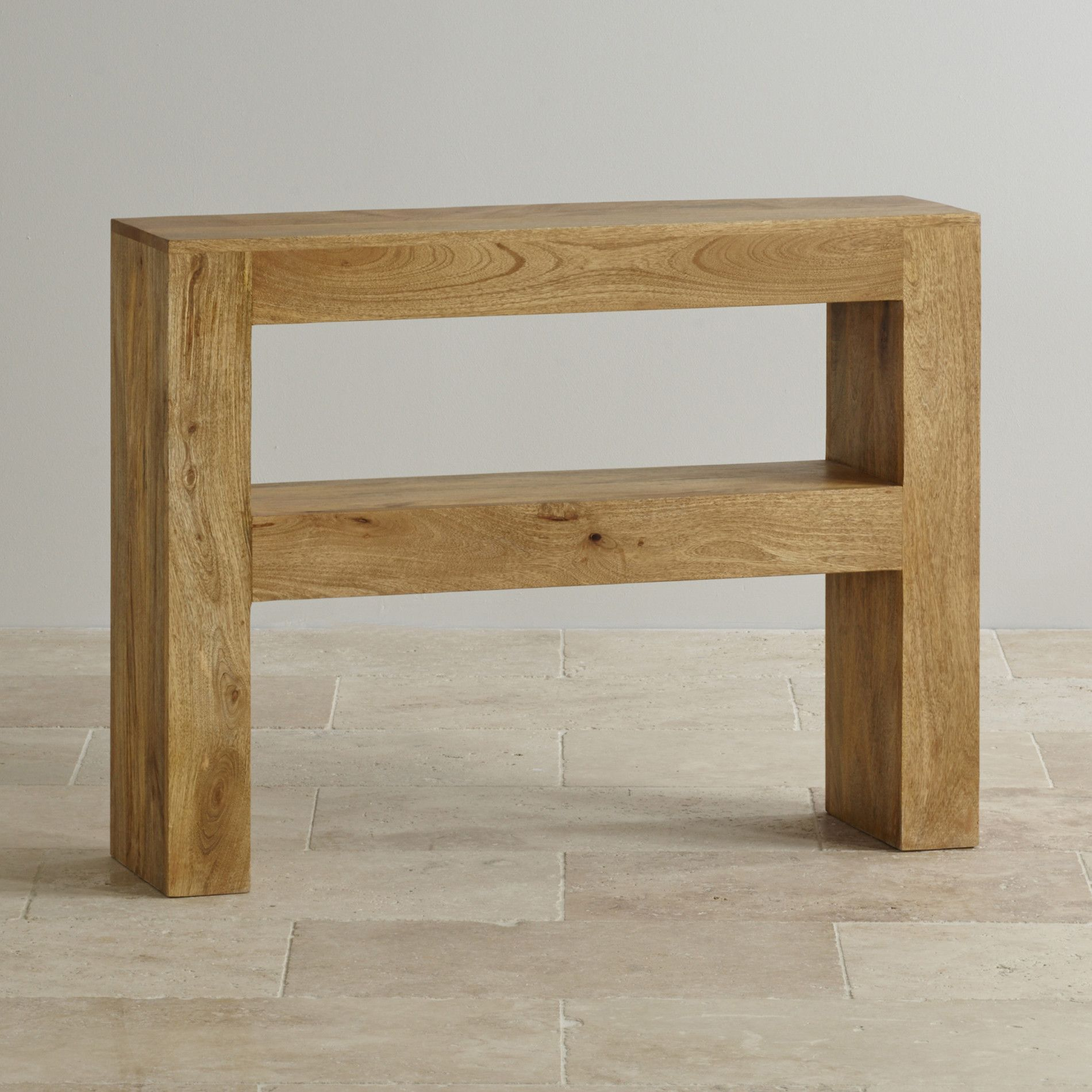 Hallway furniture oak Mantis Light Natural Solid Mango Console Table  Console tables