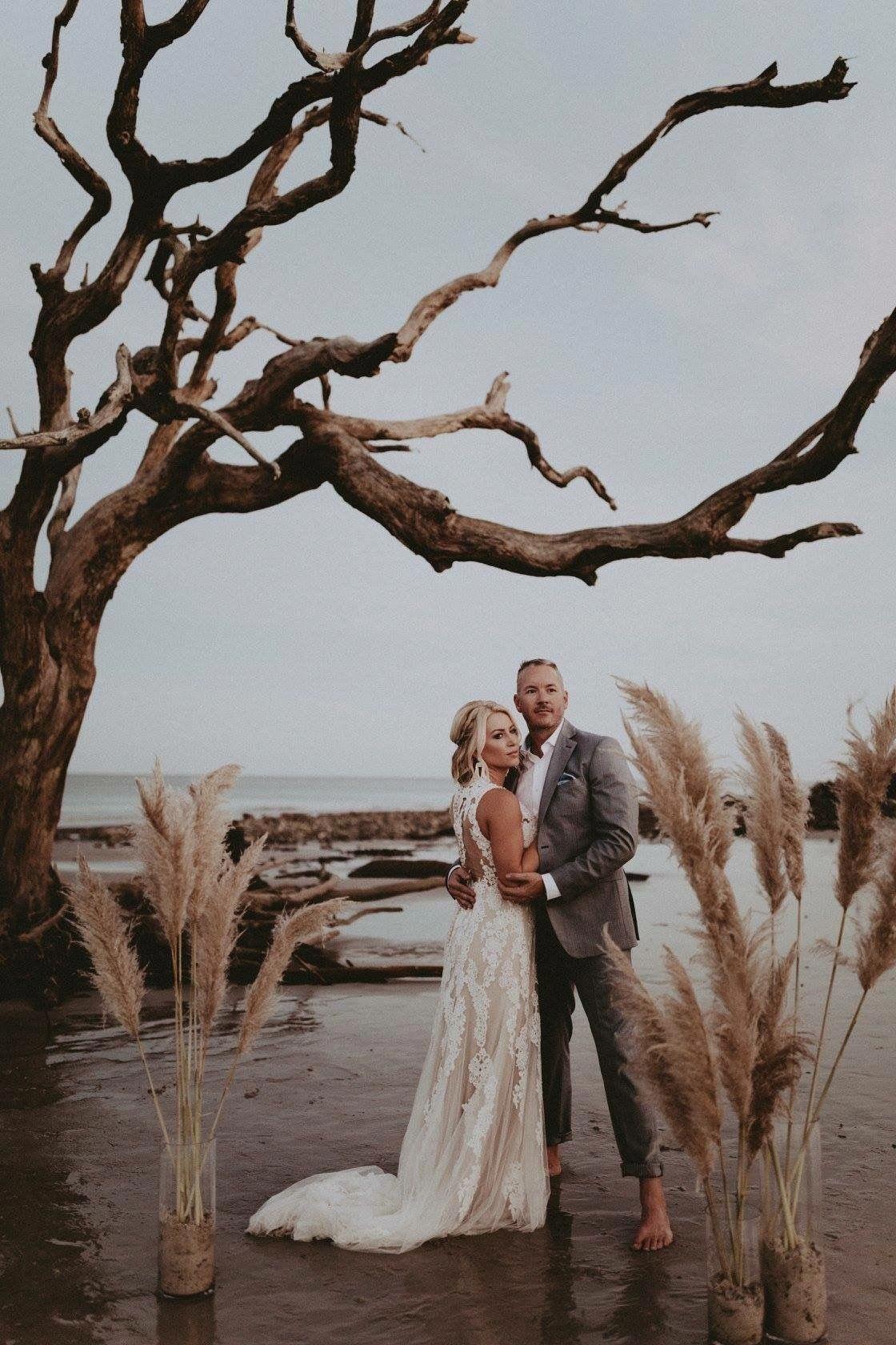 Driftwood Beach Wedding Beach Wedding Locations Beach Wedding Beautiful Beach Wedding