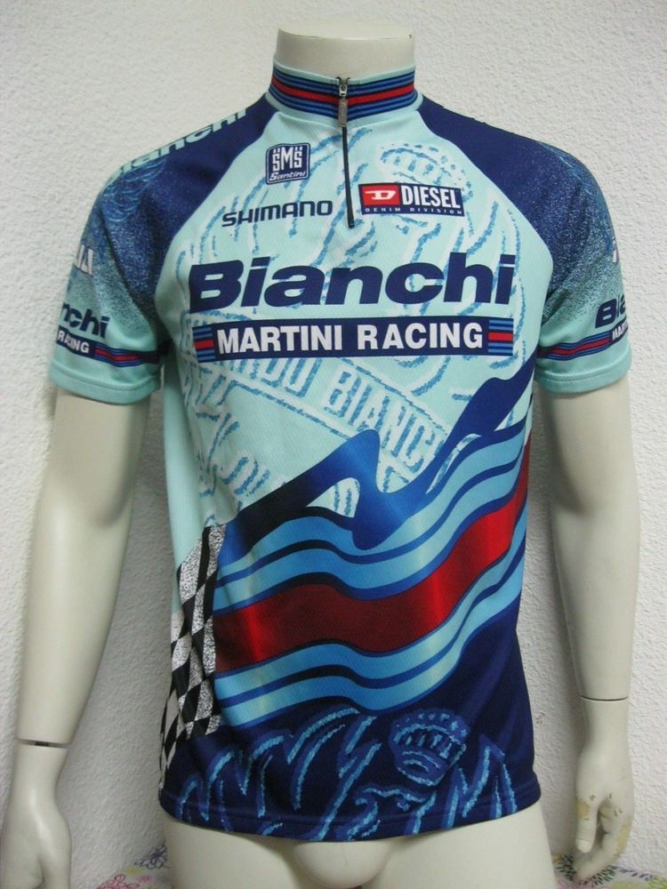 03f4072af Ancien MAILLOT SMS SANTINI BIANCHI MARTINI RACING XXL Cycling Team Jersey  Maglia
