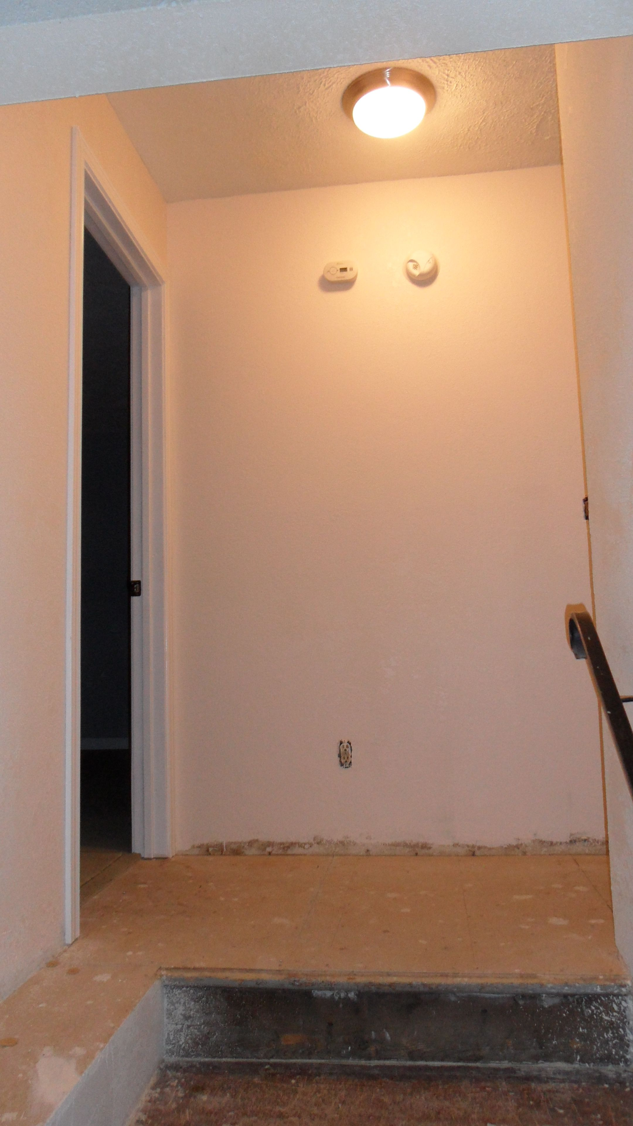 Textured Hallway W New Light Smoke Detector Carbon Monoxide
